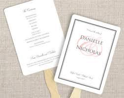 fan style wedding programs fan style program etsy