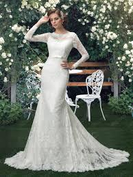 mermaid wedding dress glamorous sleeves button trumpet mermaid wedding dress