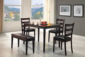 Black Dining Room Set With Bench Excellent Dining Room Sets For Small Apartments Fair Design
