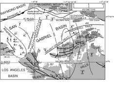 San Gabriel Map Tectonics Of The San Gabriel Basin And Surroundings Southern