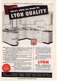 Metal Cabinets Kitchen 1949 Ad Lyon Metal Products Enamel Steel Cabinets Androck