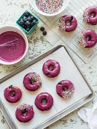 blueberry lemon glazed baked donuts kitchen confidante