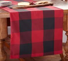 buffalo check table runner 10 pieces table runner size 13 x 58 blended buffalo check suiting