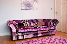 Purple Sofa Bed Patchwork Sofa Purple Cover Option Patchworksofa