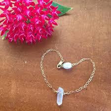 crystal quartz bracelet images Quartz crystal bracelet dragonfly diva jpg