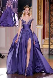 evening dresses for weddings purple applique formal party evening prom cocktail dresses