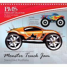 monster truck jams monster truck jam stencil art portfolio u2013 daves deals