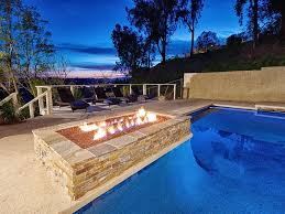California Fire Pit by Mansion In The Hills With Large Pool Tub Fire Pit Game Room