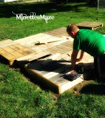 Floating Fire Pit by Minettesmaze Diy Pallet Deck