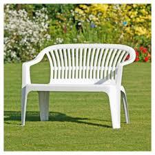 Pvc Bench Seat Buy Plastic Garden Bench White From Our Garden Bench Range Tesco