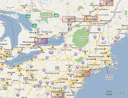 map of eastern usa and canada usa canada map toronto thempfa org