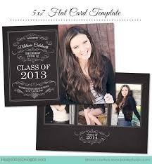 senior class graduation photo cards finishing template