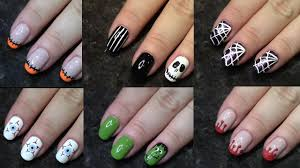nail art 101 5 minute halloween designs pt 1 youtube