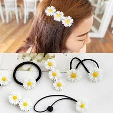 korea color plastic elastics flower diy hair accessories