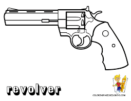 gun coloring pages fleasondogs org