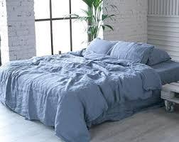 Blue Linen Bedding - natural bedding etsy