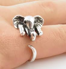size 9 ring silver elephant wrap ring size 9 wrapped on artfire