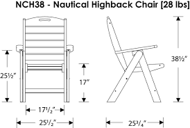 Polywood Furniture Dealers Polywood Nautical High Back 6 Chair Dining Set Nautical
