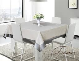 dining room table cloth torrence sandy gray silver faux leather tablecloth discount