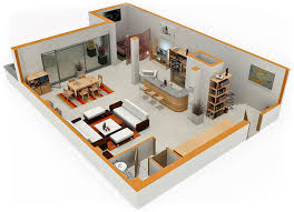 Small House Plans With Loft Bedroom - pleasurable 10 3d small house plans with loft 4 bedroom small
