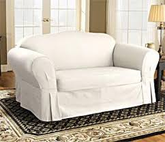 white slipcovers for sofa white sofa slipcover