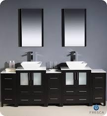 To  Torino Double Vessel Sink Vanity Espresso Bathgemscom - Bathroom vanity for vessel sink 2