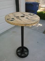 Diy Round End Table by Pub Table Diy Pub Table Bar Table Recycled Home Decor U0026 Diy