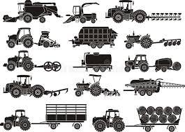 chambre d agriculture ni re machines d agriculture réglées illustration de vecteur