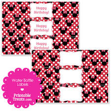 printable minnie mouse water bottle labels u2014 printable treats