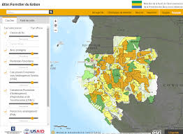 Gabon Africa Map by Gabon World Resources Institute