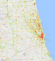Chicago City Limits Map by The Restaurant Landscape Of Chicago Bootler Food Delivery
