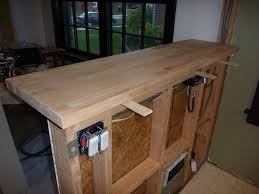 how to attach a countertop to a wall without cabinets my stupid house building a sturdy half wall bar top