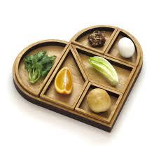 modern seder plate wooden heart tangram seder plate and matzo traypassover gift