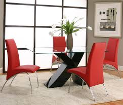 red dining room sets rectangular tempered glass table top with polyester polyurethane