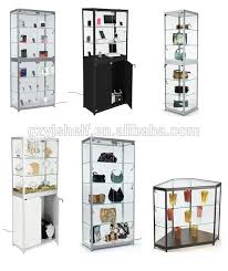 lockable glass display cabinet showcase sell glass store mobile phone display showcase boutique display