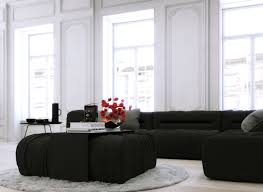 Parisian Living Room by Parisian Apartment Monochrome Living With White Walls And Black
