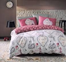 yoanna dried rose cotton duvet cover threel co uk