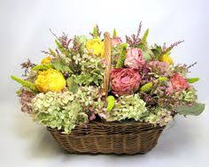 Dried Flower Arrangements Dried Flower Arrangement In Antique Ironstone China Container