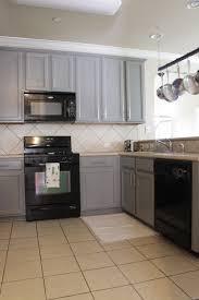 kitchen design stunning grey cabinets black appliances kitchen