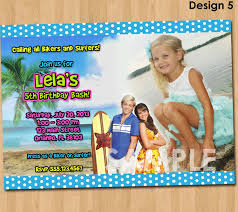 marvelous beach party invitation designs birthday party dresses