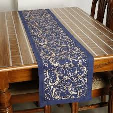 table runner dekor world cotton table runner blue table runners homeshop18