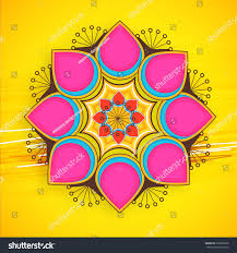 rangoli decoration vector illustration colorful rangoli decoration happy stock vector