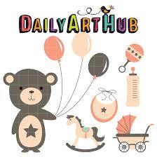 baby shower clip art set daily art hub
