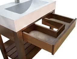 Cement Bathroom Vanity Top Concrete Sink Trueform Concrete Bathroom Sinks New York By