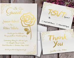 wedding invitations gold foil gold foil invitation etsy