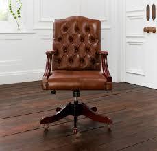 chaise de bureau antique fauteuil de bureau classique en cuir piètement étoile