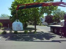 How Much Does A Cubic Yard Of Gravel Cost 1 Cubic Yard Bag Delivered By Boom Truck Youtube