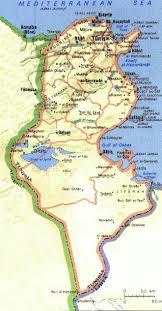 tunisia map focus on tunisia map