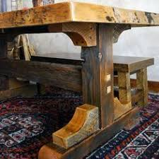 reclaimed trestle dining table images of rustic dining tables black mountain reclaimed rustic