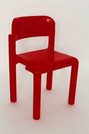 red space age set of four stacking chairs by eero aarnio 1971 1972